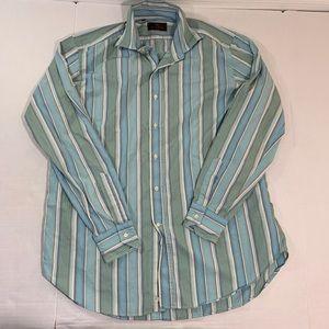 Etro Striped Button Dress Shirt Italy 42 M
